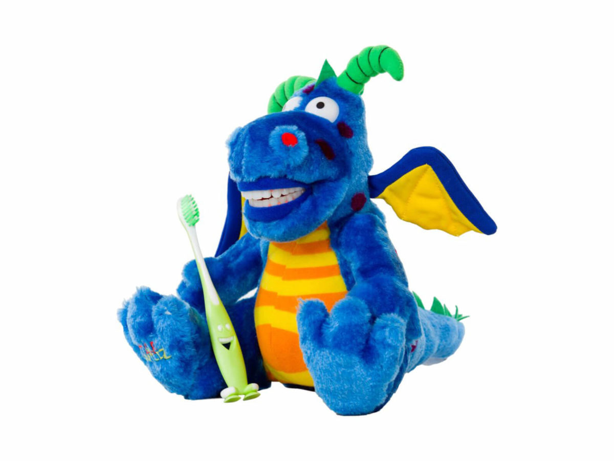 Lil Magi Dragon Dental Puppet - Front