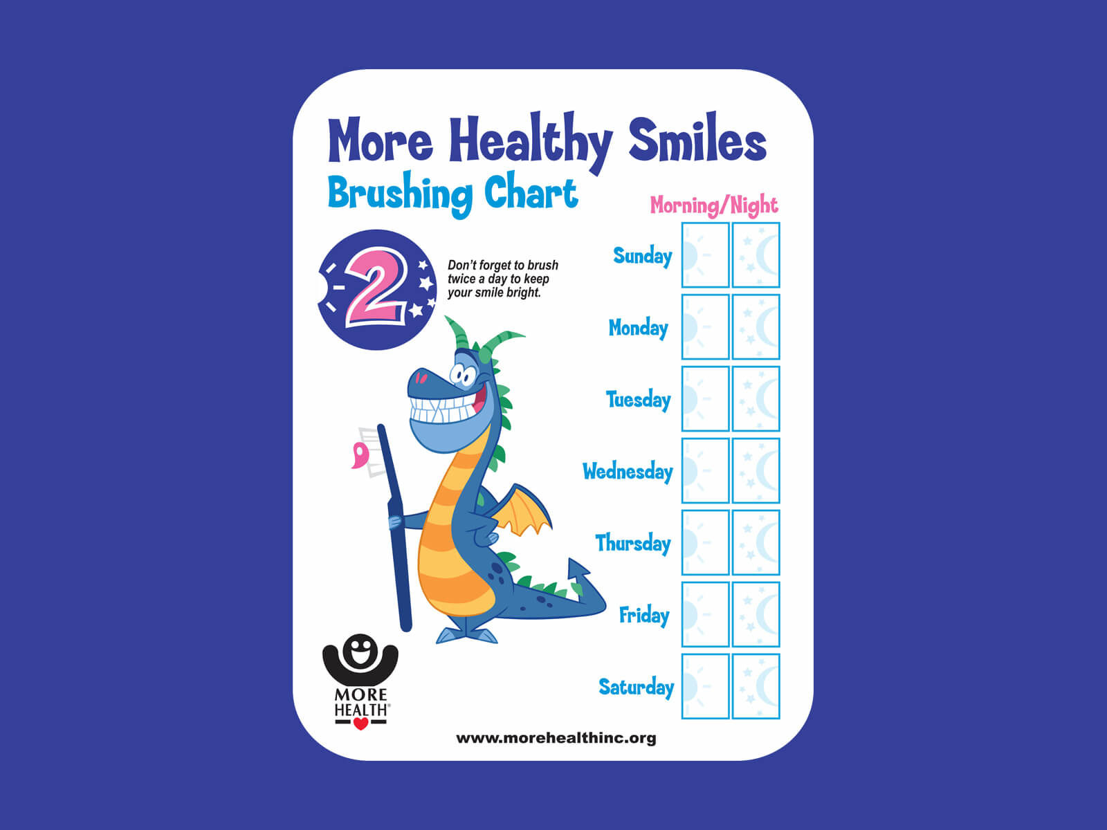 More Healthy Smiles - Brushing Chart (PDF)
